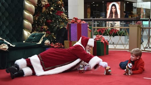 If you want to know the difference a Santa can make. This photo of Santa playing with a child, taken at the SouthPark Mall's Caring Santa event in Charlotte, North Carolina, went viral earlier this month.