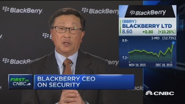 BlackBerry CEO John Chen: Focused on privacy & security