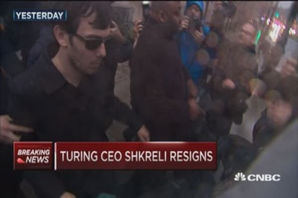 Turing Pharmaceuticals replaces Shkreli with chairman as interim CEO