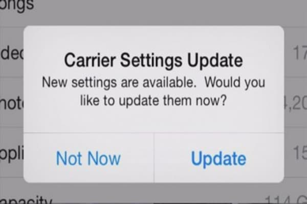 Should you download the 'Carrier Settings Update' on an iPhone, iPad?