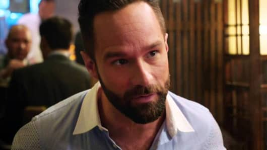"Russ Hanneman, played by Chris Diamantopoulos, on HBO's ""Silicon Valley."""