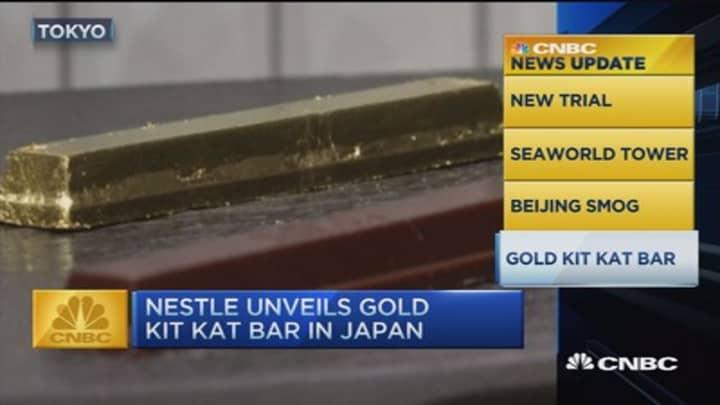 CNBC update: Gold Kit Kat bar