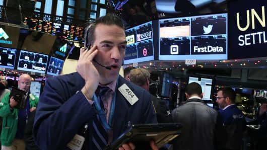 NYSE Trader talking