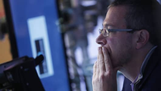 Worried NYSE traders