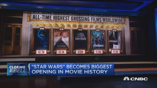 'Star Wars' becomes biggest opening in history