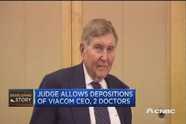 Judge allows deposition of Viacom CEO, 2 doctors in Redstone case