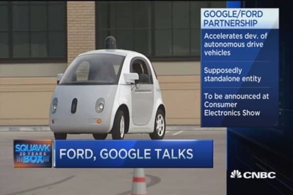 Ford, Google talk self-driving cars: Report