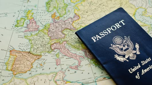 Passport travel Europe