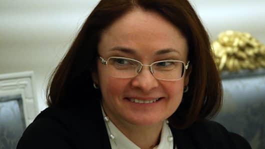 Russian Central Bank Chairman Elvira Nabiullina