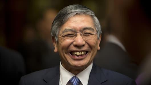 Haruhiko Kuroda, governor of the Bank of Japan (BOJ)