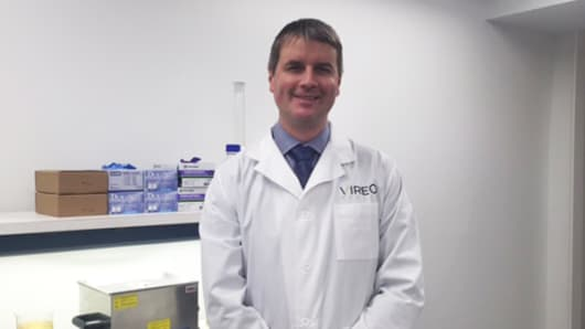 Vireo Health CEO Dr. Kyle Kingsley in the company's Johnstown, New York, lab.