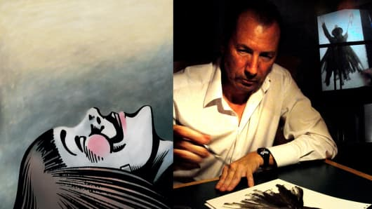 """V"" in V for Vendetta (left) 