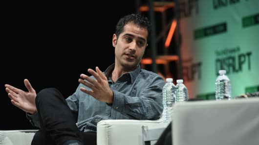 Co-founder and CEO of Periscope, Kayvon Beykpour, speaks onstage during TechCrunch Disrupt NY 2015.