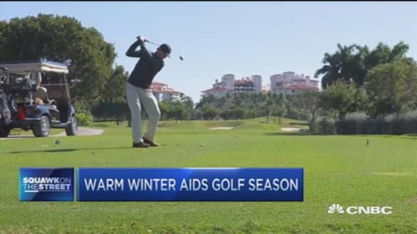 Northeast tee times quadruple with warmer weather