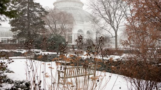 The 250-acre New York Botanical Garden in wintertime