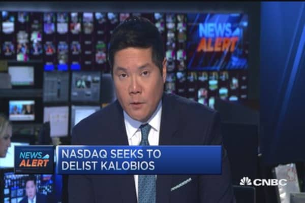 Nasdaq poised to delist KaloBios Pharma