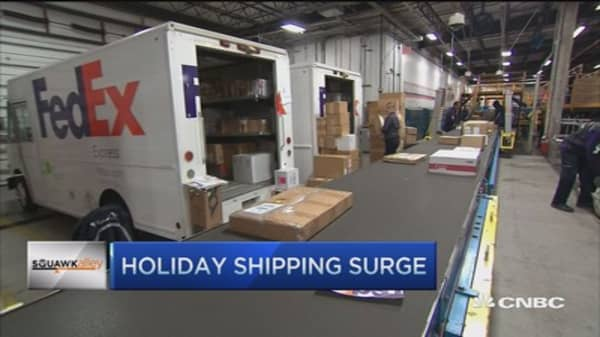Holiday package volumes exceed shipping forecasts