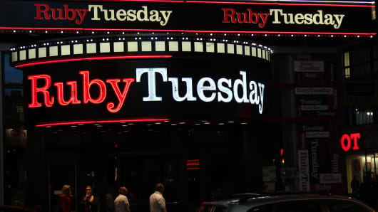 "Ruby Tuesdays in Times Square, New York. A ""Couple's VIP Table"" at Ruby Tuesday on New Years Eve will cost $1,799."