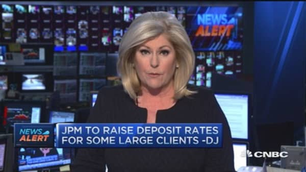 JPMorgan to increase deposit rates for some clients