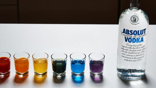 Absolut Vodka shows support of the LGBT community