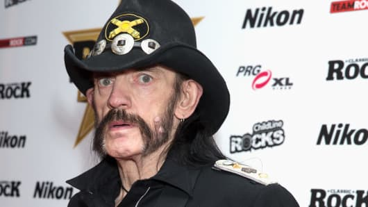 Lemmy of Motorhead attends the Classic Rock Roll of Honour at The Roundhouse on November 11, 2015 in London, England.
