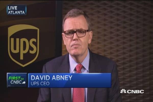 UPS CEO:  We feel 'comfortable' with Amazon relationship