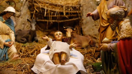 Baby Jesus statues stolen from church Nativity scenes in New Jersey.