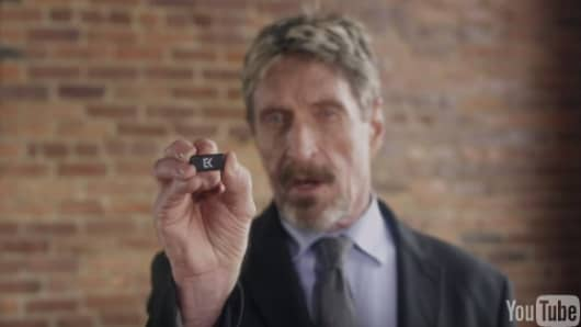 John McAfee crowd funds on Indiegogo for his new venture EveryKey.