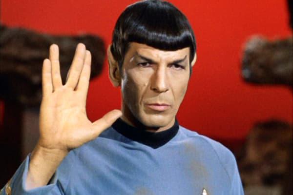 "Leonard Nimoy as Mr. Spock in ""Star Trek: The Original Series' episode 'Amok Time."""