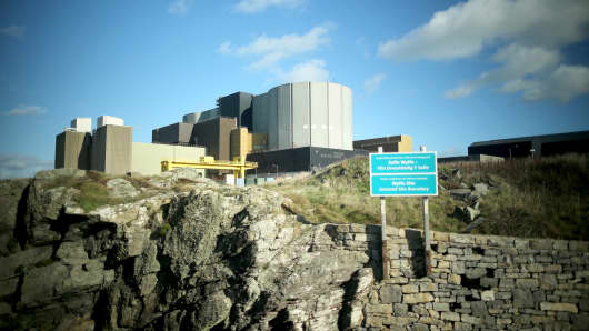 A general view of the Wylfa nuclear power station in Tregele, Anglesey, United Kingdom.