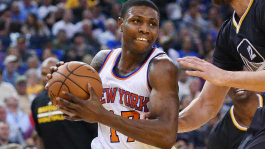 Cleanthony Early of the New York Knicks