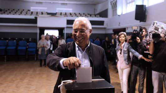 Portuguese Socialist Party leader and Prime Minister Antonio Costa