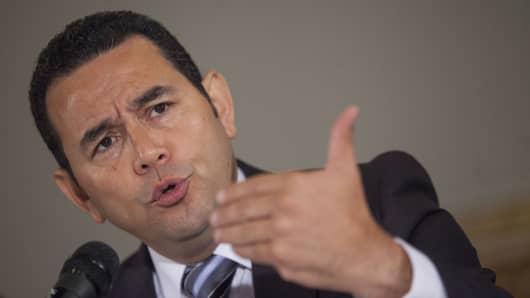 President of Guatemala Jimmy Morales