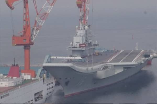 China says it's working on a second aircraft carrier
