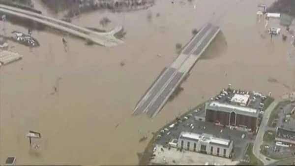 Record flooding in US Midwest