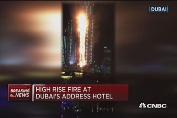 Dubai high rise fire not enough to deter New Year's fireworks