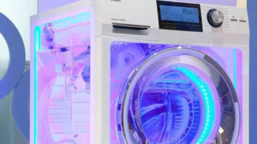 Haier's transparent washing machine.