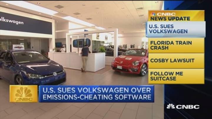 CNBC update: US sues Volkswagen