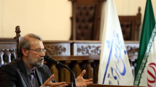 Ali Larijani, speaker of the Iranian Parliament