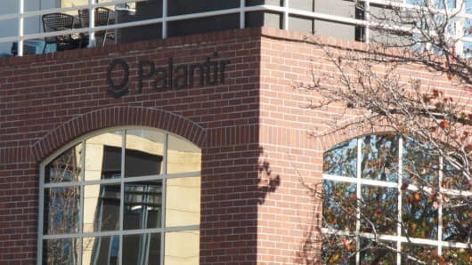 Palantir's Palo Alto headquarters, Palo Alto, California.