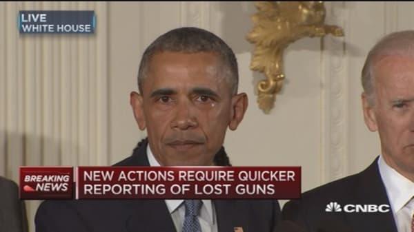 President Obama announces executive actions on guns
