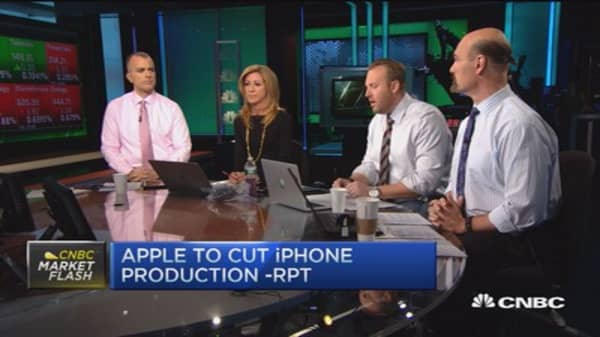 Halftime Report traders talk Apple