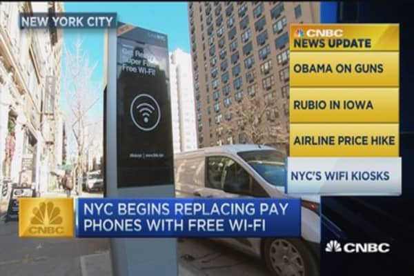 CNBC update: NYC plans payphone makeovers