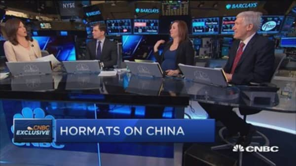 Hormats: No direct econ effect from Chinese stock decline