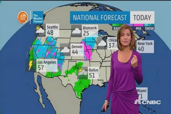 Big rain sweeps West Coast