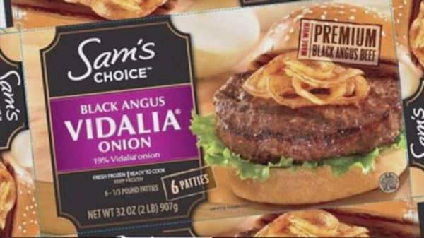 Walmart supplier recalls about 90K pounds of beef patties