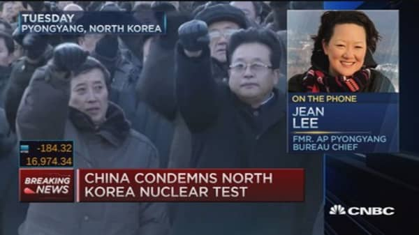 China condemns North Korea nuclear test