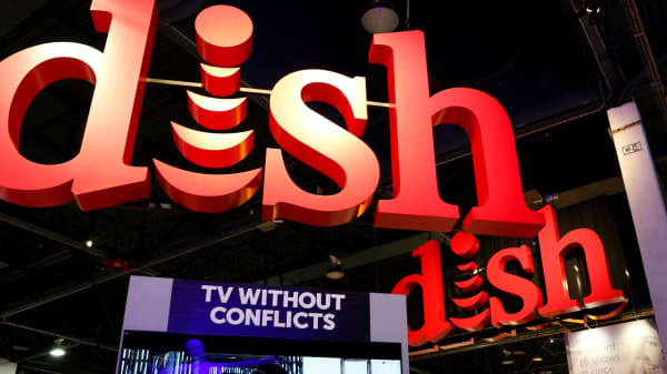 Dish Networks exhibit at CES 2016 in Las Vegas.