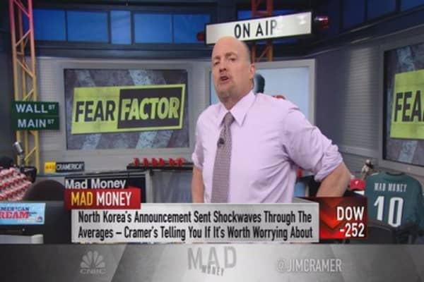 Cramer: You won't make a dime panicking—be patient