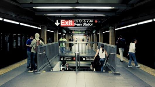 New York Subway station near Penn Station.
